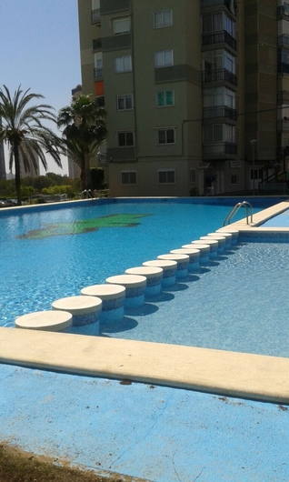 Apartments on the beach of Poniente 12295