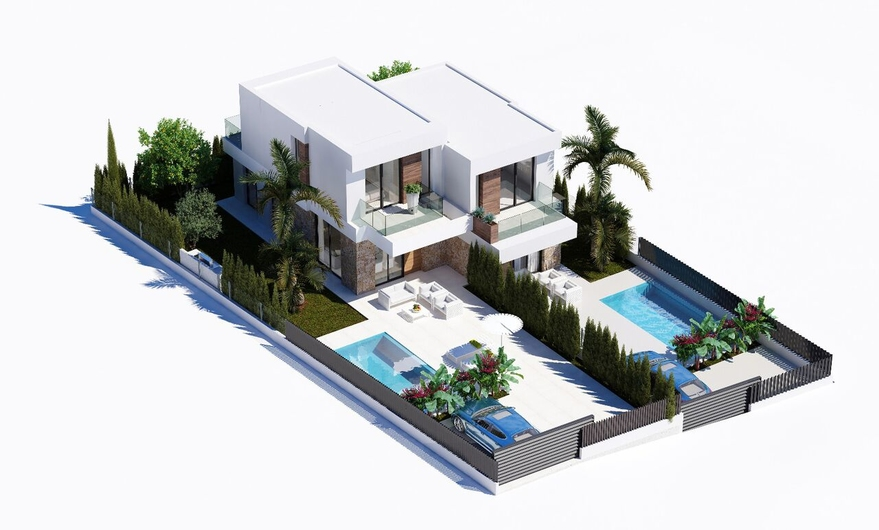 New townhouses in the power of minimalism in 5 minutes. from Benidorm 15952