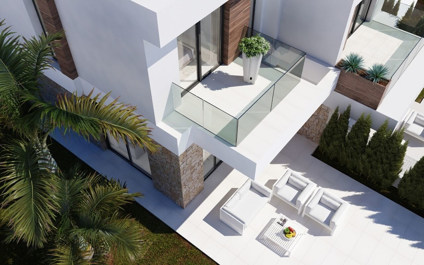 New townhouses in the power of minimalism in 5 minutes. from Benidorm 15953